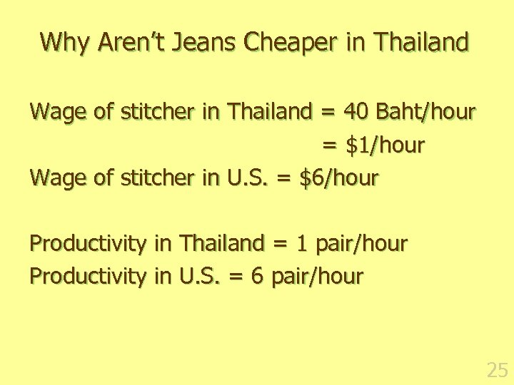 Why Aren't Jeans Cheaper in Thailand Wage of stitcher in Thailand = 40 Baht/hour