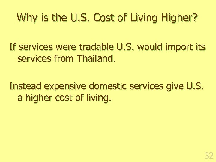 Why is the U. S. Cost of Living Higher? If services were tradable U.