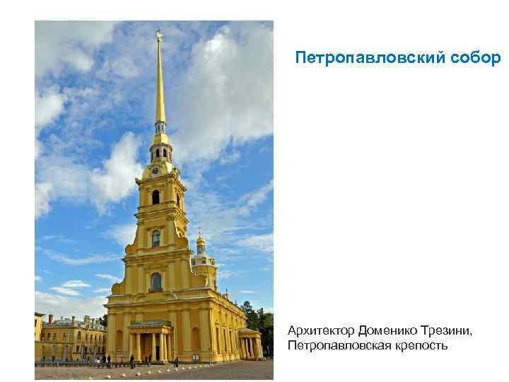 Петропавловский собор Архитектор Доменико Трезини, Петропавловская крепость
