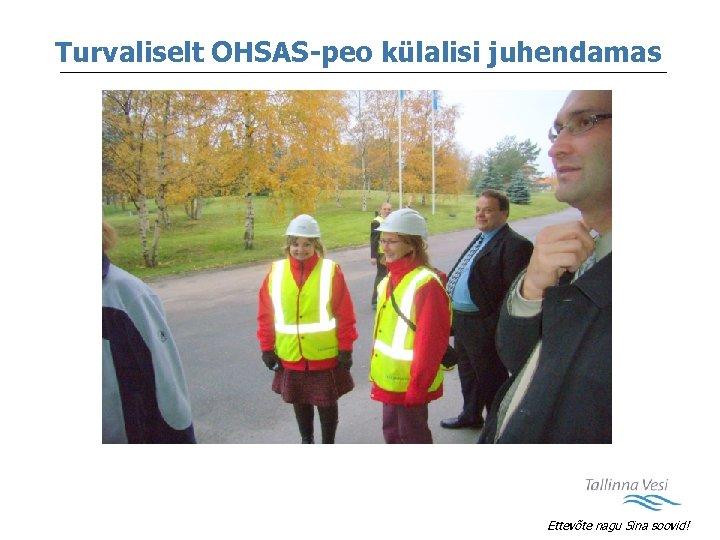 Turvaliselt OHSAS-peo külalisi juhendamas Ettevõte nagu Sina soovid!