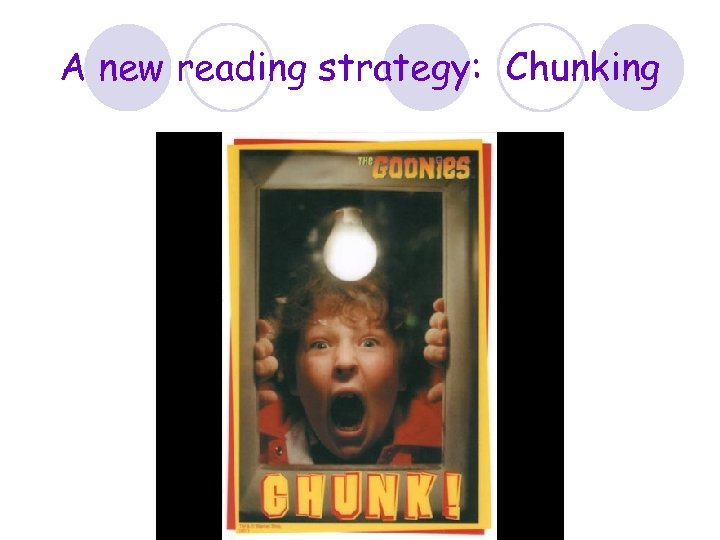 A new reading strategy: Chunking