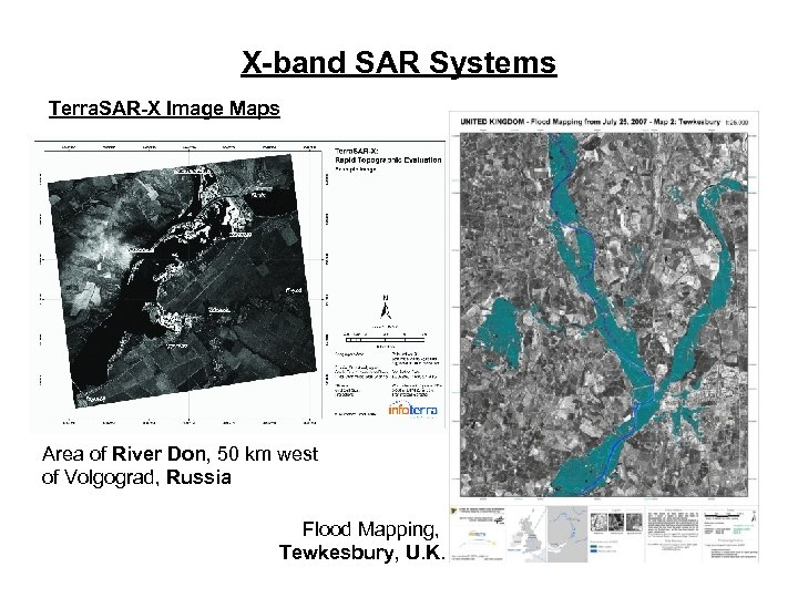 X-band SAR Systems Terra. SAR-X Image Maps Area of River Don, 50 km west