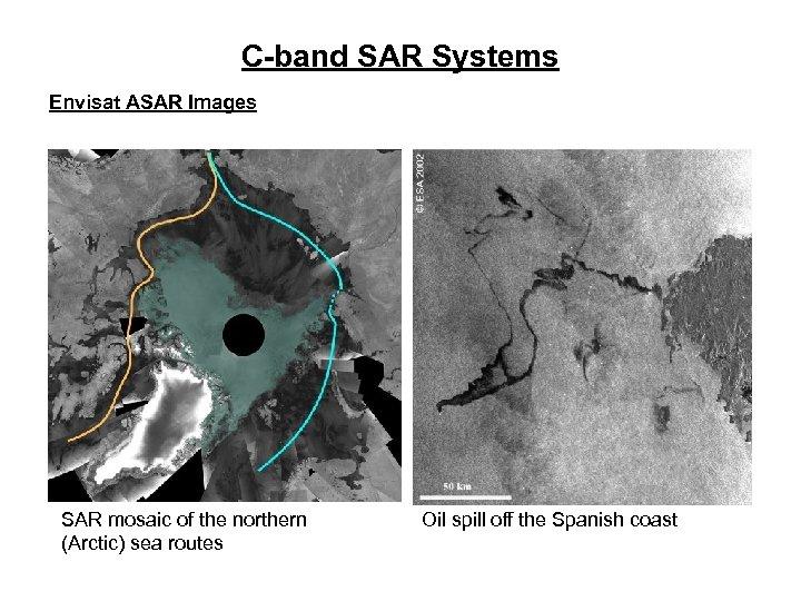 C-band SAR Systems Envisat ASAR Images SAR mosaic of the northern (Arctic) sea routes