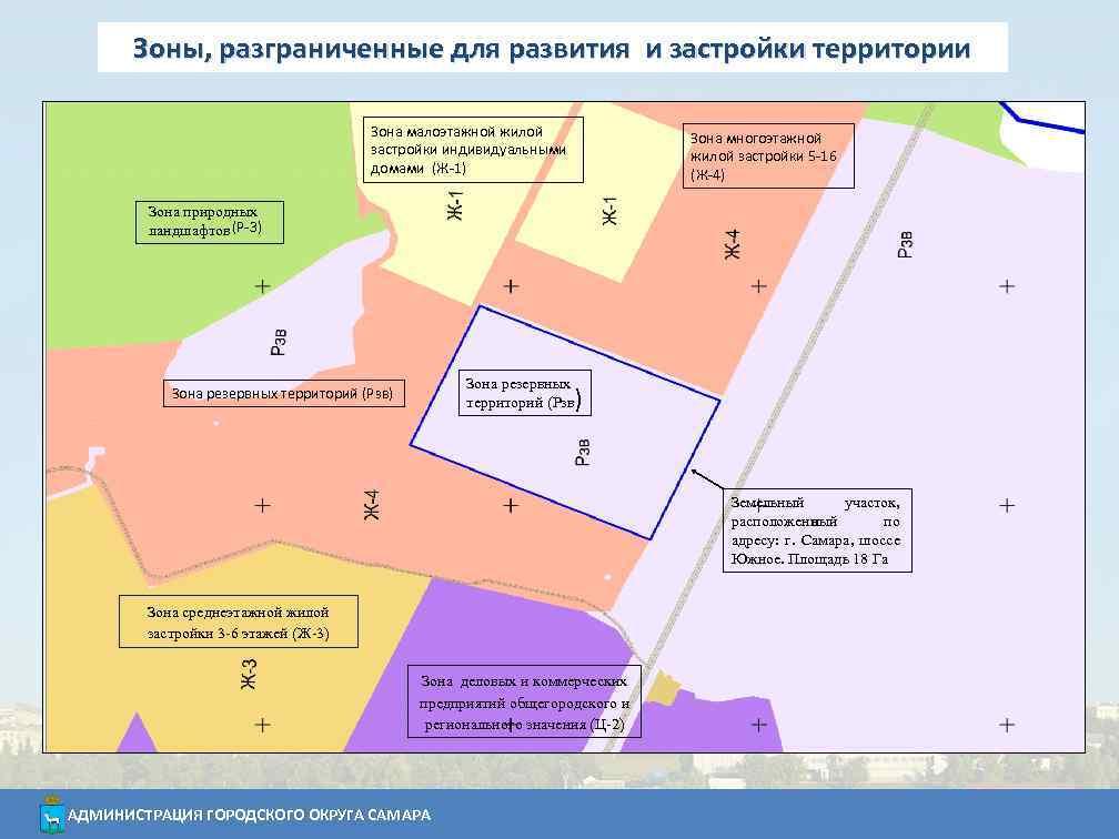 Зоны, разграниченные для развития и застройки территории Зона малоэтажной жилой застройки индивидуальными домами (Ж-1)