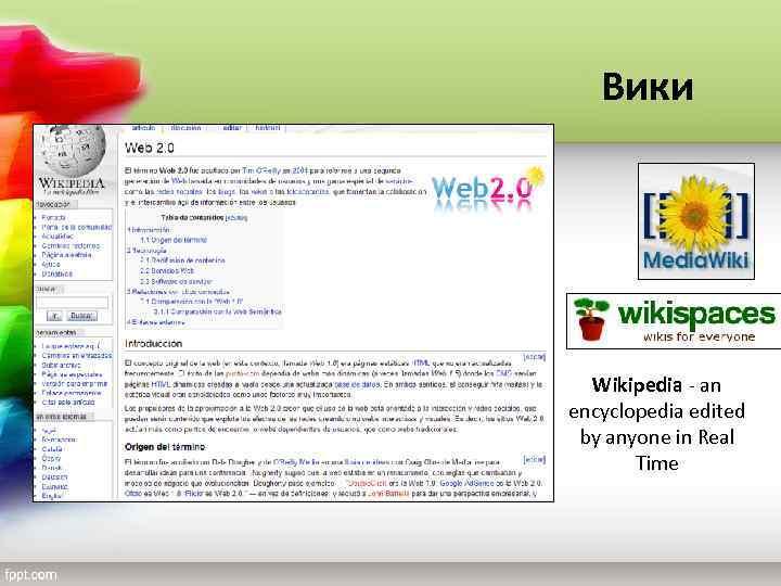 Вики Wikipedia - an encyclopedia edited by anyone in Real Time