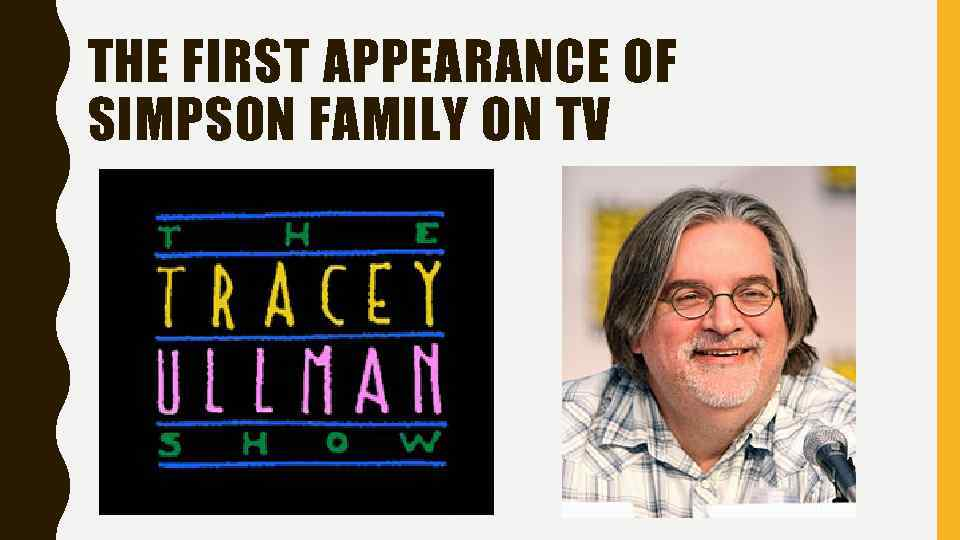 THE FIRST APPEARANCE OF SIMPSON FAMILY ON TV