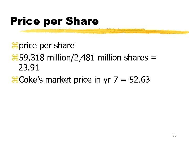Price per Share zprice per share z 59, 318 million/2, 481 million shares =