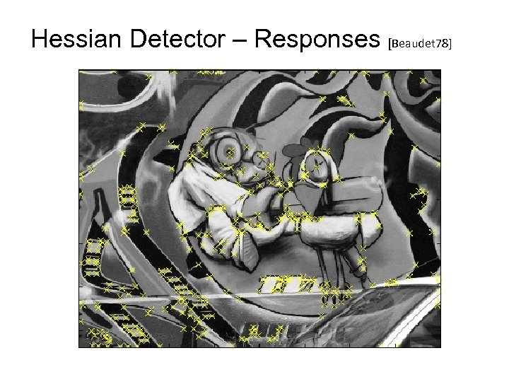 Hessian Detector – Responses [Beaudet 78]