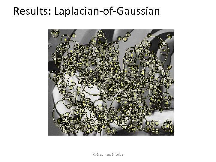Results: Laplacian-of-Gaussian K. Grauman, B. Leibe