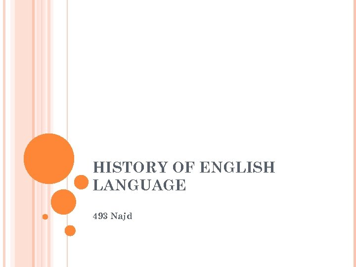 HISTORY OF ENGLISH LANGUAGE 493 Najd
