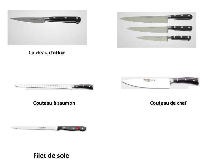 Couteau d'office Couteau à saumon Filet de sole Couteau de chef