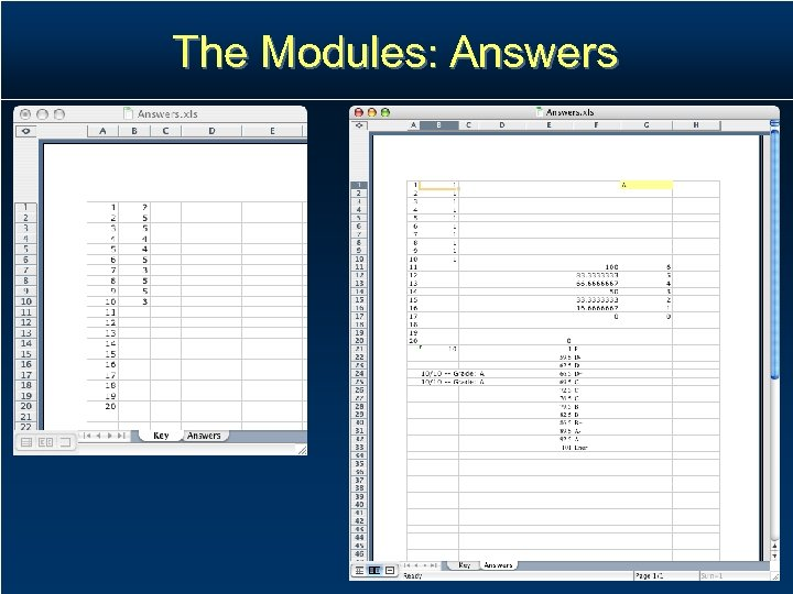 The Modules: Answers