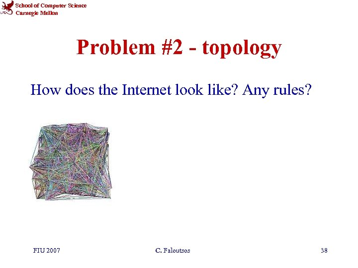 School of Computer Science Carnegie Mellon Problem #2 - topology How does the Internet