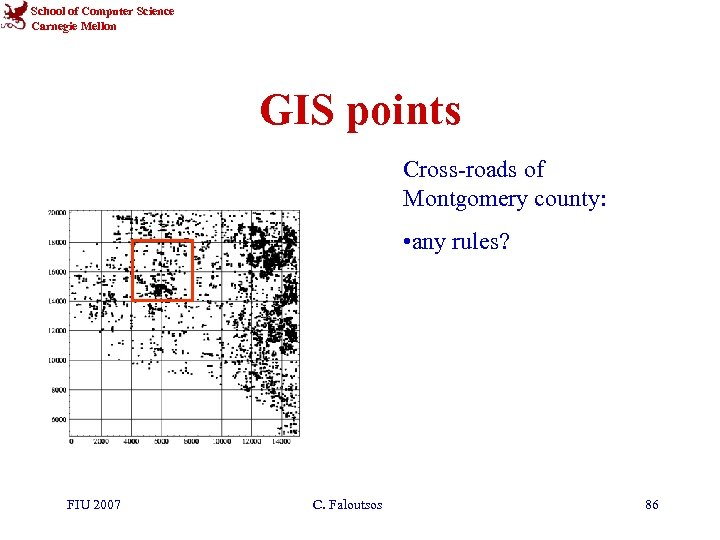 School of Computer Science Carnegie Mellon GIS points Cross-roads of Montgomery county: • any