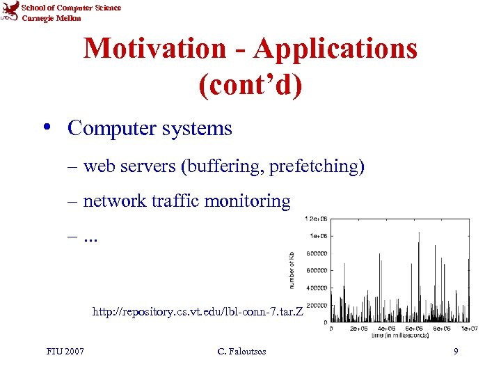 School of Computer Science Carnegie Mellon Motivation - Applications (cont'd) • Computer systems –