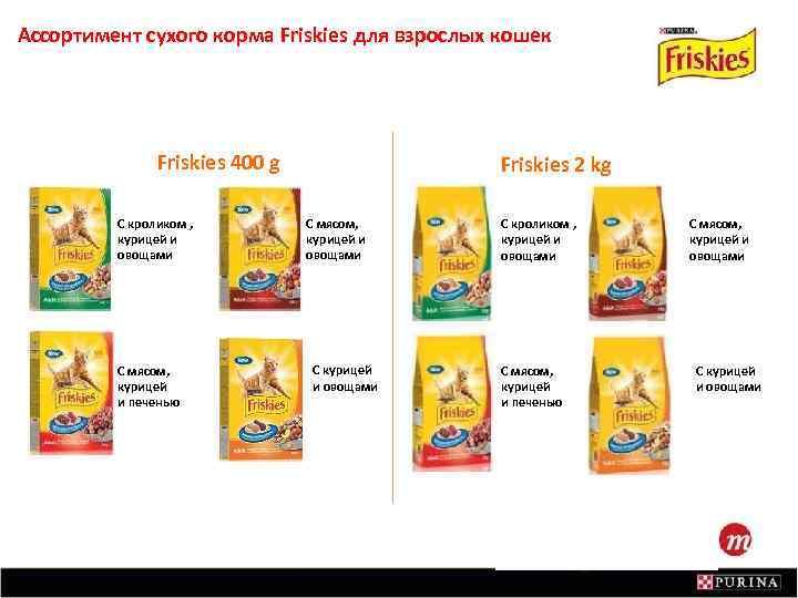 Ассортимент сухого корма Friskies для взрослых кошек Friskies 400 g С кроликом , курицей