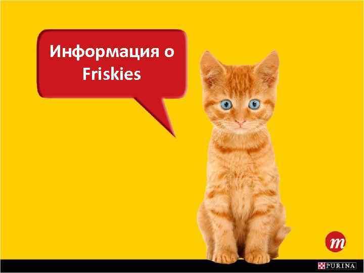 Информация о Friskies