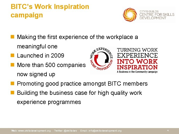 BITC's Work Inspiration campaign n Making the first experience of the workplace a meaningful