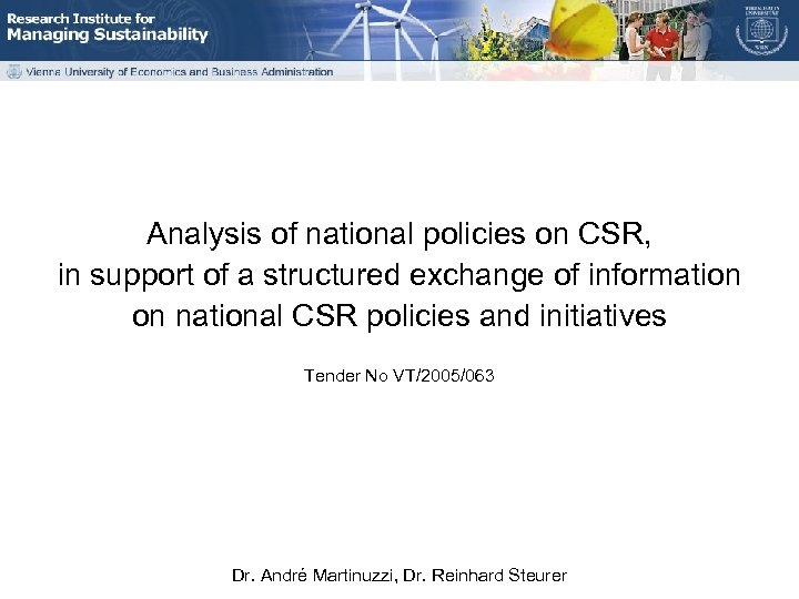Analysis of national policies on CSR, in support of a structured exchange of information