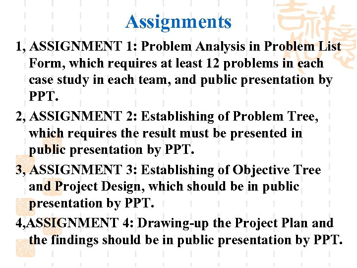 Assignments 1, ASSIGNMENT 1: Problem Analysis in Problem List Form, which requires at least