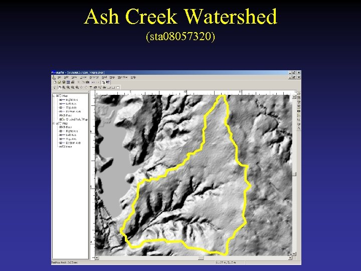 Ash Creek Watershed (sta 08057320)