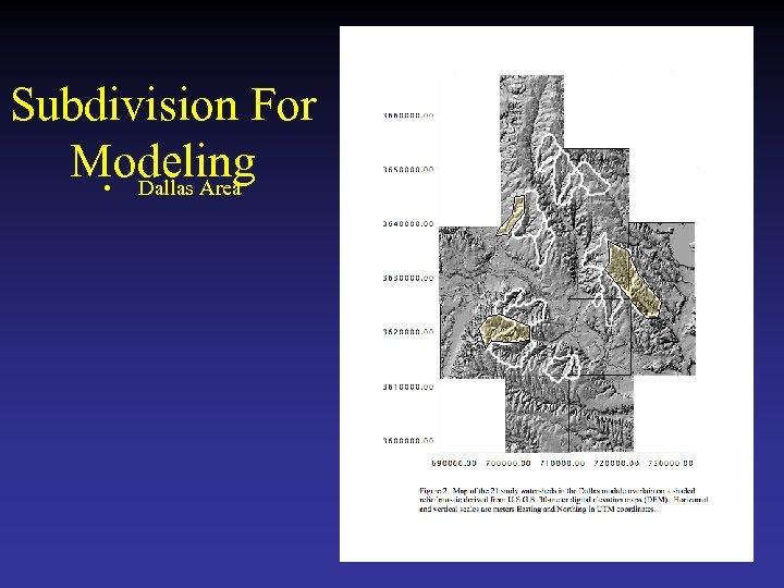 Subdivision For Modeling • Dallas Area