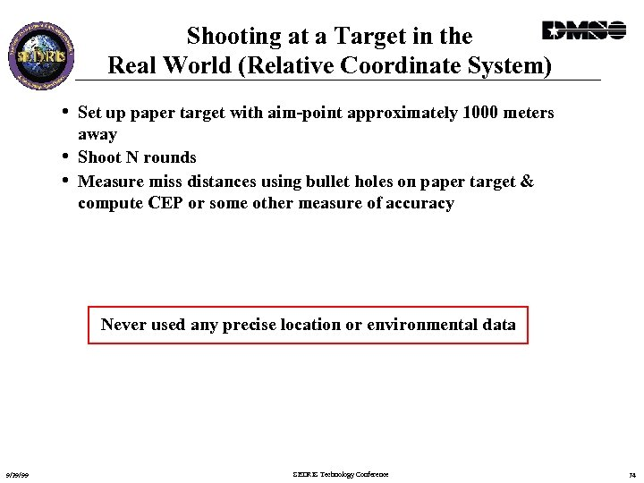Shooting at a Target in the Real World (Relative Coordinate System) • Set up