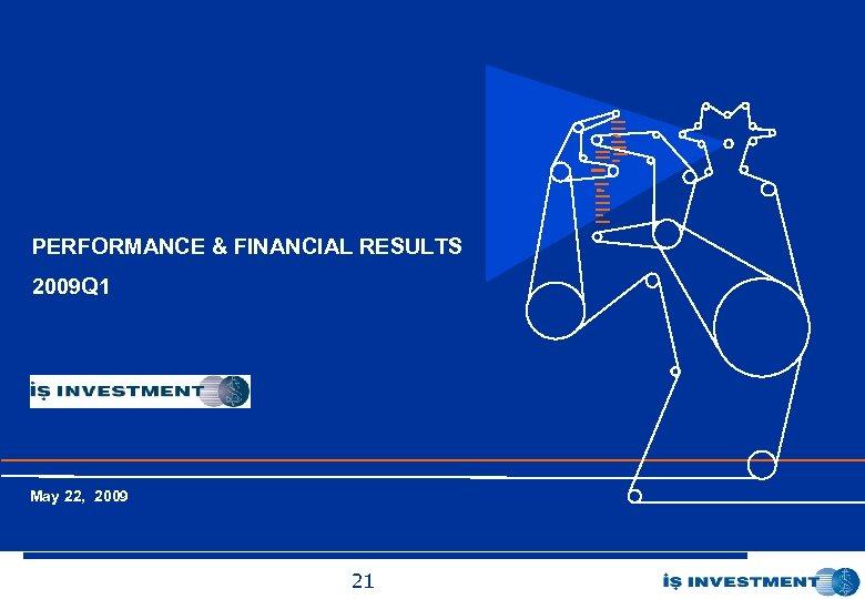 İş Yatırım Menkul Değerler A. Ş. PERFORMANCE & FINANCIAL RESULTS 2009 Q 1 Ocak