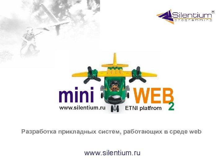 Разработка прикладных систем, работающих в среде web www. silentium. ru