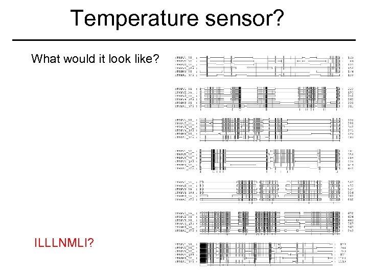 Temperature sensor? What would it look like? ILLLNMLI?