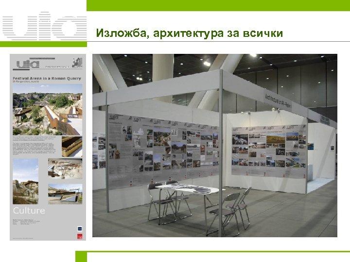 Изложба, архитектура за всички