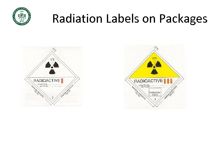 Radiation Labels on Packages