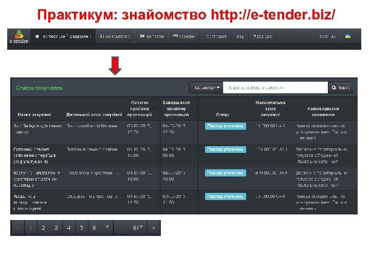 Практикум: знайомство http: //e-tender. biz/