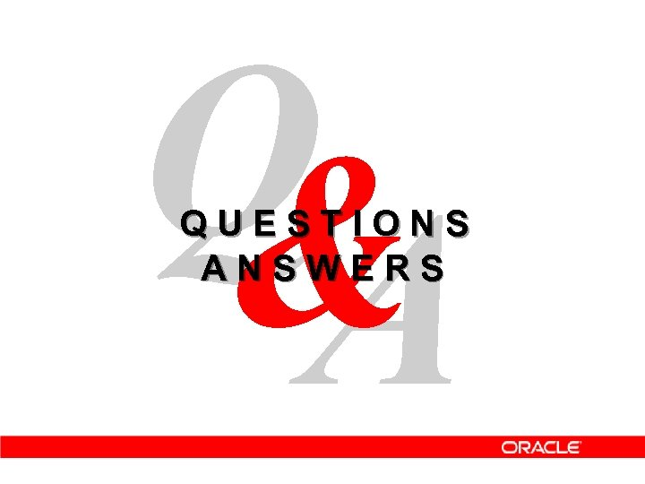Q & A Q U E S T I O N S A N