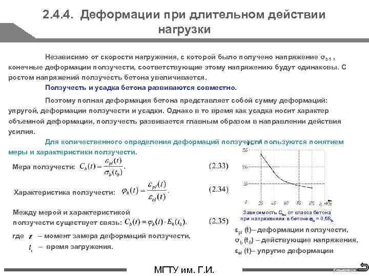 2. 4. 4. Деформации при длительном действии нагрузки Независимо от скорости нагружения, с которой