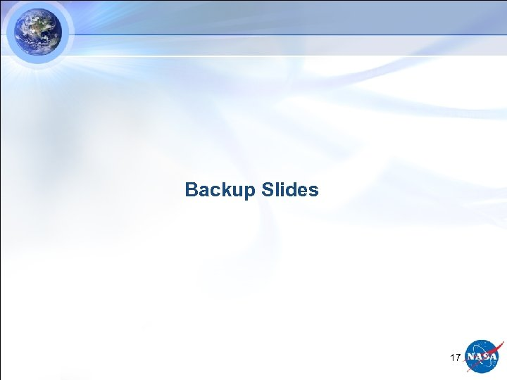 Backup Slides 17
