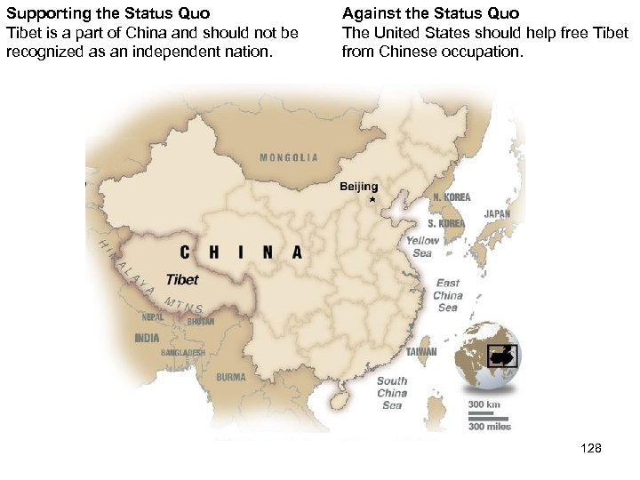 Supporting the Status Quo Tibet is a part of China and should not be