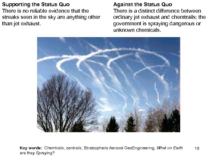 Supporting the Status Quo There is no reliable evidence that the streaks seen in
