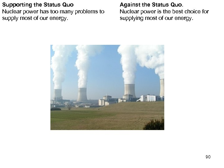 Supporting the Status Quo Nuclear power has too many problems to supply most of