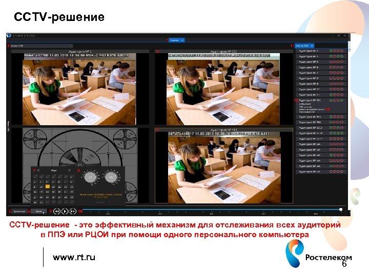 CCTV-решение ССTV-решение - это эффективный механизм для отслеживания всех аудиторий в ППЭ или РЦОИ