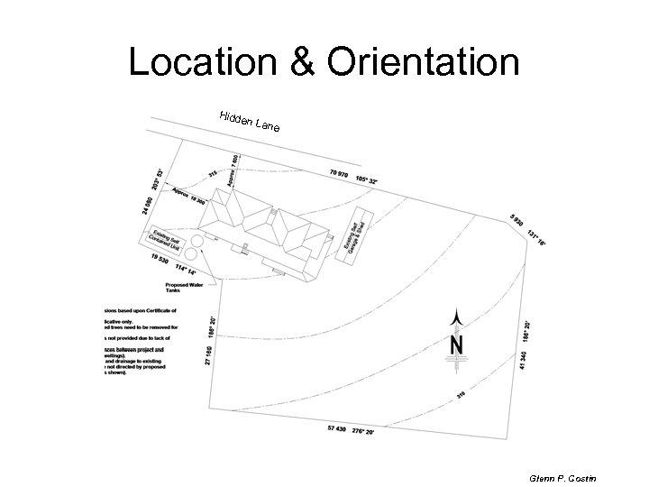 Location & Orientation Hidde n Lan e Glenn P. Costin