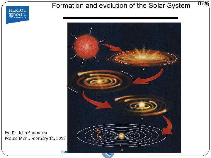 an introduction to the evolution of the solar system Astronomy 161 is an introduction to modern astronomy, with an emphasis on the solar system the course begins with an exploration of the historical development of astronomy, tracing the path by which we have come to our present understanding of the universe.