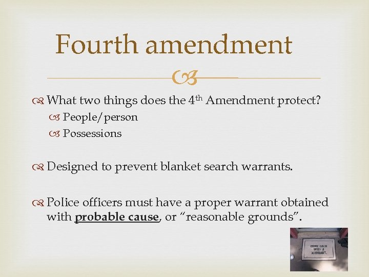 the fourth amendment yields to technology Search and seizure: the meaning of the fourth amendment today the right of the people to be secure in their persons, houses, papers, and effects, against unreasonable searches and seizures, shall not be violated, and no warrants shall issue, but upon probable cause, supported by oath or affirmation, and particularly describing the place to be searched, and the persons or things to be seized.