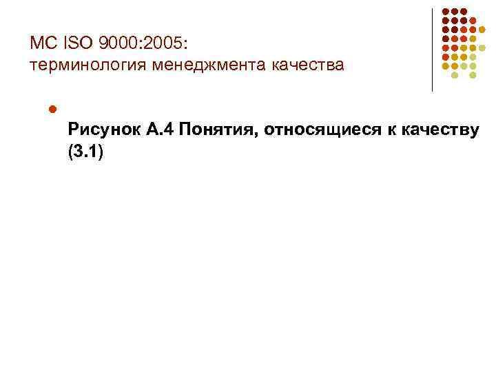 МС ISO 9000: 2005: терминология менеджмента качества l Рисунок А. 4 Понятия, относящиеся к