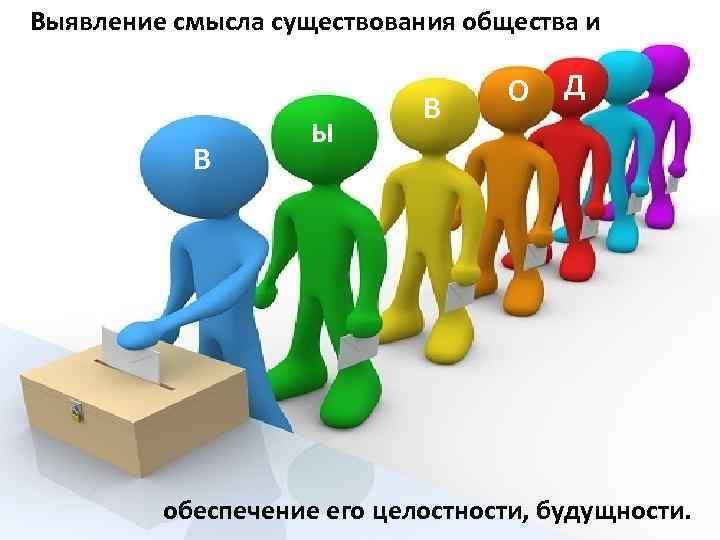 Выявление смысла существования общества и Политика выполняет ряд важный функций: О Д Поддержание и