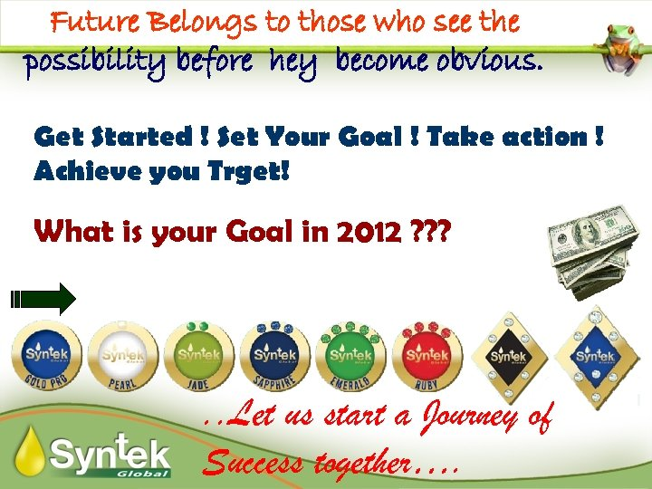 Future Belongs to those who see the possibility before hey become obvious. Get Started