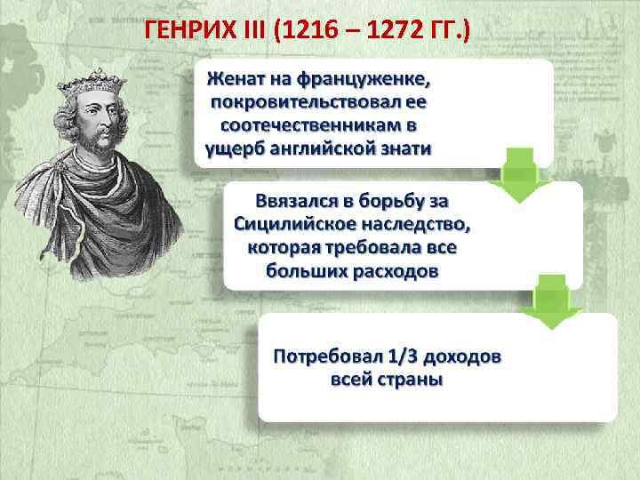 ГЕНРИХ III (1216 – 1272 ГГ. )