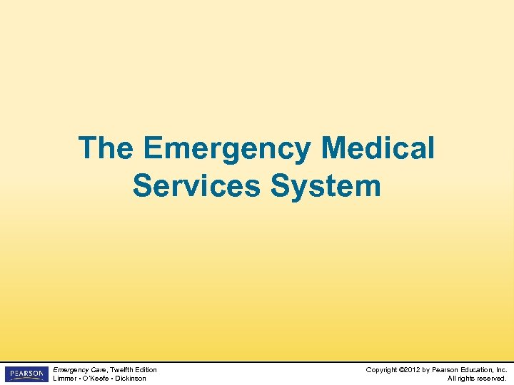an introduction to emergency medical services Introduction and course objectives  the main goal of the post graduate diploma in emergency medical services course is to produce highly efficient medical resource with the necessary knowledge, skill and attitude to manage in an effective manner, a wide range of clinical problems in emergencies.