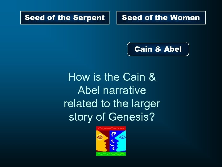Seed of the Serpent Seed of the Woman Cain & Abel How is the