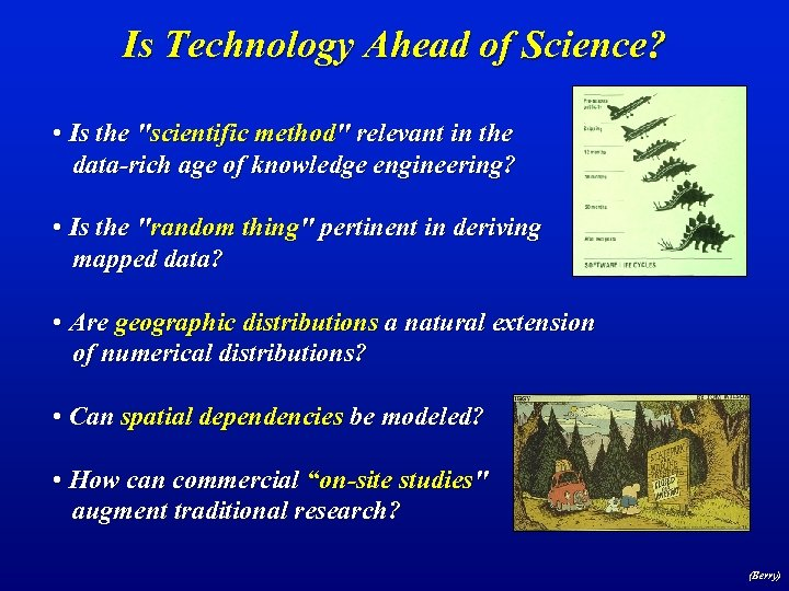 Is Technology Ahead of Science? • Is the